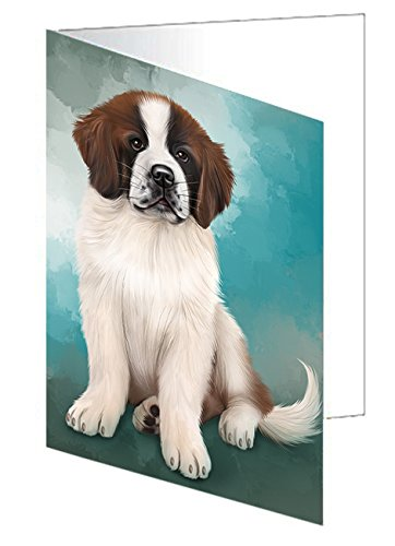 Saint Bernard Dog Greeting Card D169