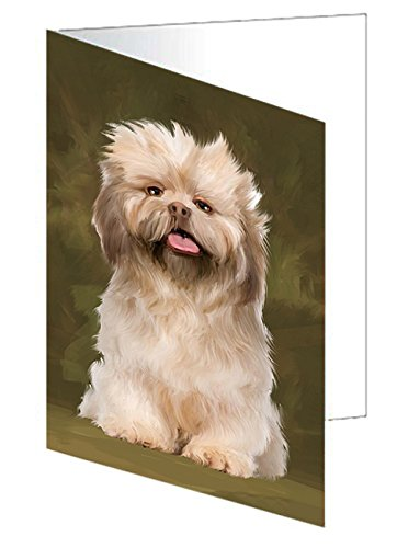 Shorkies Dog Greeting Card D385