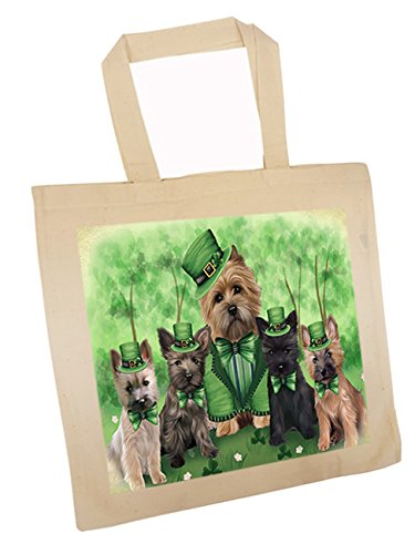 St. Patricks Day Irish Family Portrait Cairn Terriers Dog Tote TTE48759