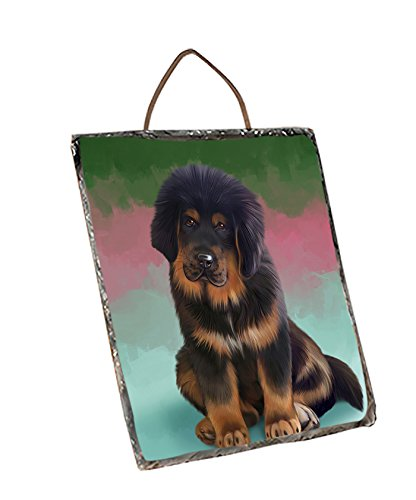 Tibetan Mastiff Dog Wall Décor Hanging Photo Slate