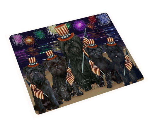 "4th Of July Firework Affenpinschers Dog Magnet Mini (3.5"" x 2"") MAG48459"