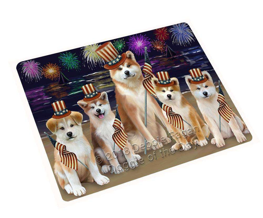 "4th Of July Independence Day Firework Akitas Dog Magnet Mini (3.5"" x 2"") MAG61260"