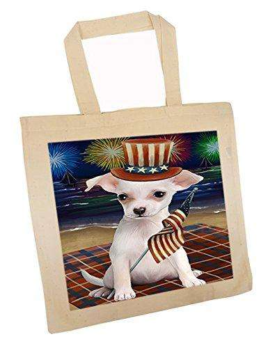 4th of July Independence Day Firework Chihuahua Dog Tote TTE48882