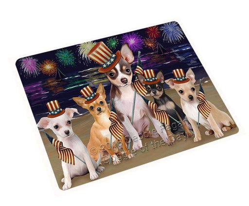 "4th Of July Independence Day Firework Chihuahuas Dog Magnet Mini (3.5"" x 2"") MAG50502"