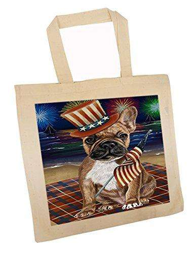 4th of July Independence Day Firework French Bulldog Tote TTE48905