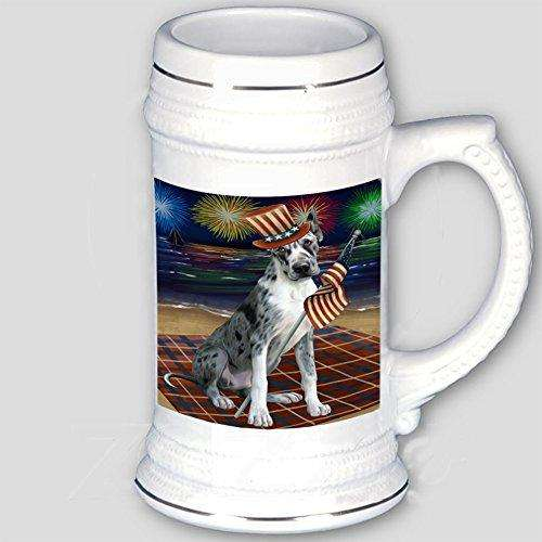 4th of July Independence Day Firework Great Dane Dog Beer Stein BST480775