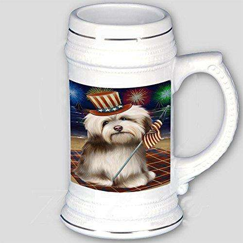 4th of July Independence Day Firework Havanese Dog Beer Stein BST480781