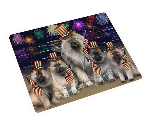 "4th Of July Independence Day Firework Keeshonds Dog Magnet Small (5.5"" x 4.25"") mag61425"
