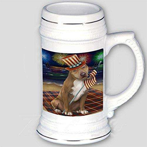 4th of July Independence Day Firework Pit Bull Dog Beer Stein BST480822