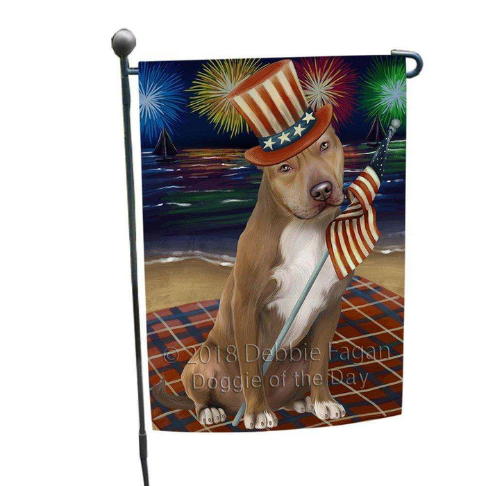 4th of July Independence Day Firework Pit Bull Dog Garden Flag GFLG48868