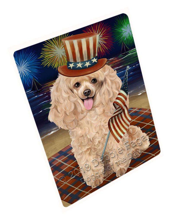 "4th Of July Independence Day Firework Poodle Dog Magnet Mini (3.5"" x 2"") MAG50793"