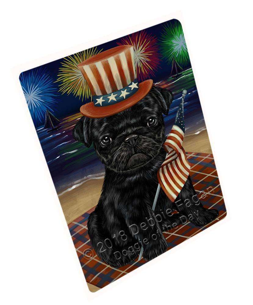 "4th Of July Independence Day Firework Pug Dog Magnet Small (5.5"" x 4.25"") mag52710"