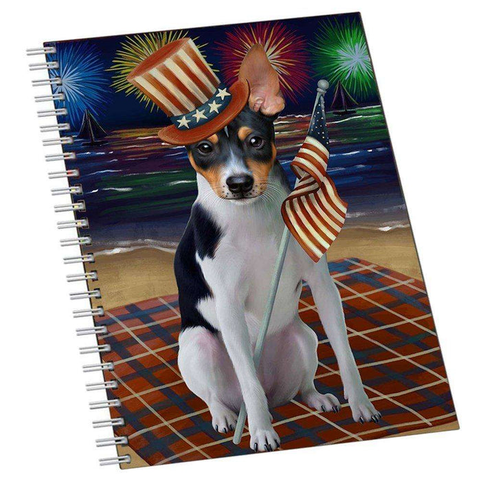 4th of July Independence Day Firework Rat Terrier Dog Notebook NTB48753