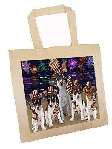 4th of July Independence Day Firework Rat Terriers Dog Tote TTE48978