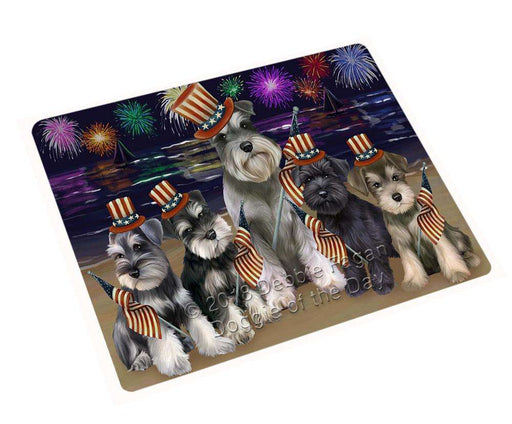 "4th Of July Independence Day Firework Schnauzers Dog Magnet Small (5.5"" x 4.25"") mag50841"