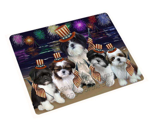 "4th Of July Independence Day Firework Shih Tzus Dog Magnet Small (5.5"" x 4.25"") mag50910"