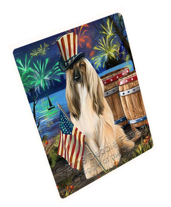 "4th Of July Independence Day Fireworks Afghan Hound Dog At The Lake Magnet Mini (3.5"" x 2"") MAG57213"