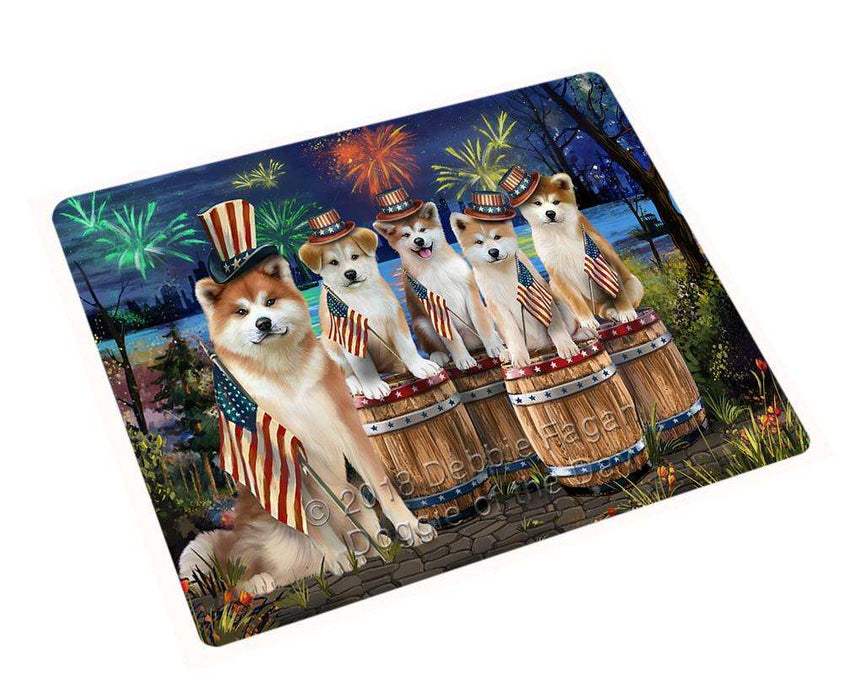 "4th Of July Independence Day Fireworks Akitas At The Lake Magnet Mini (3.5"" x 2"") MAG57039"