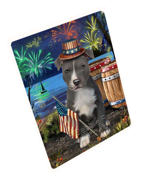 "4th Of July Independence Day Fireworks American Staffordshire Terrier Dog At The Lake Magnet Mini (3.5"" x 2"") MAG57252"