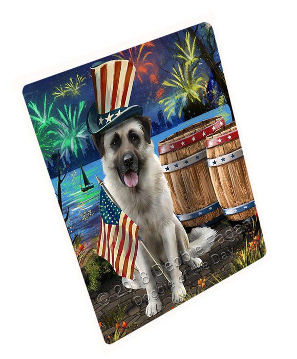 "4th Of July Independence Day Fireworks Anatolian Shepherd Dog At The Lake Magnet Mini (3.5"" x 2"") MAG57258"