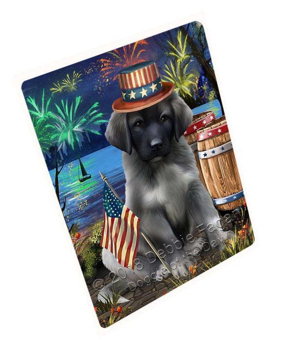 "4th Of July Independence Day Fireworks Anatolian Shepherd Dog At The Lake Magnet Mini (3.5"" x 2"") MAG57261"