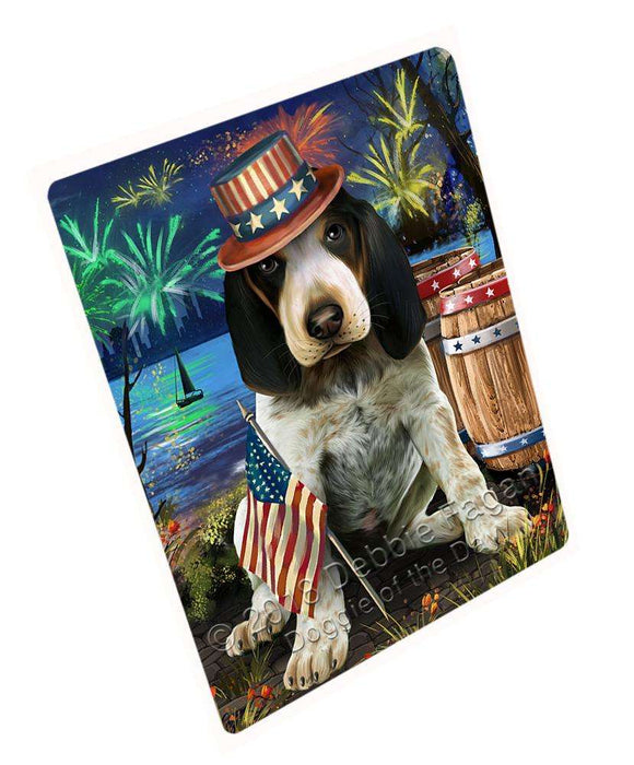 "4th Of July Independence Day Fireworks Bluetick Coonhound Dog At The Lake Magnet Mini (3.5"" x 2"") MAG57360"