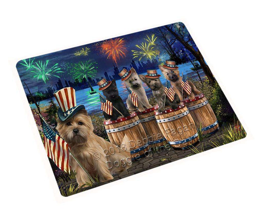 4th of July Independence Day Fireworks Cairn Terriers at the Lake Large Refrigerator / Dishwasher Magnet RMAG66186