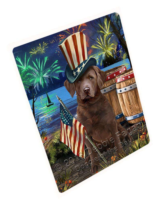 "4th Of July Independence Day Fireworks Chesapeake Bay Retriever Dog At The Lake Magnet Mini (3.5"" x 2"") MAG56907"