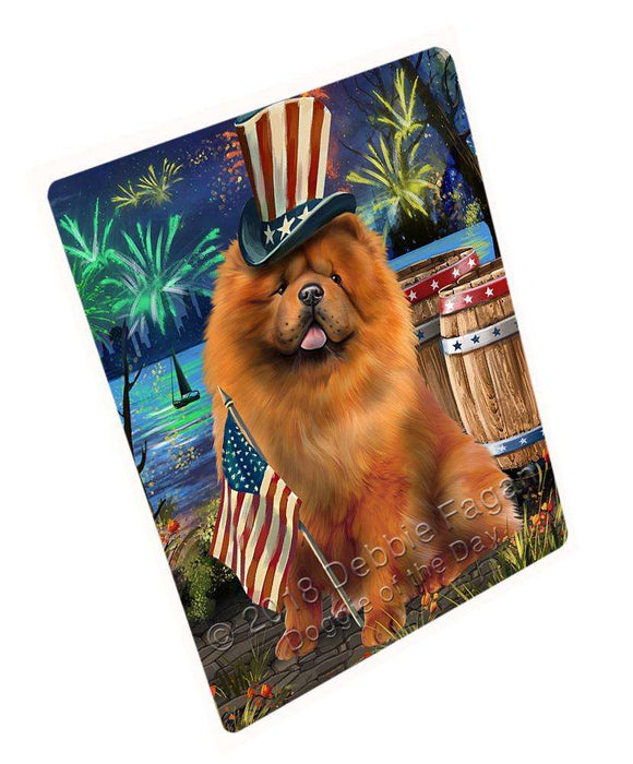 "4th Of July Independence Day Fireworks Chow Chow Dog At The Lake Magnet Mini (3.5"" x 2"") MAG57393"