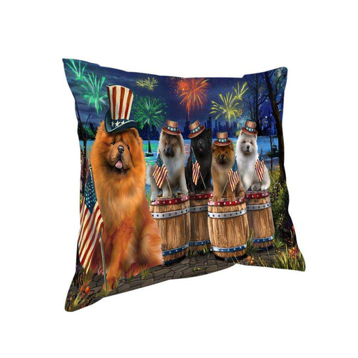 4th of July Independence Day Fireworks Chow Chows at the Lake Pillow PIL60172