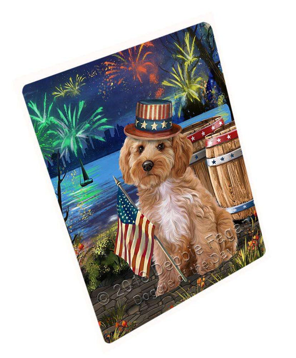 "4th Of July Independence Day Fireworks Cockapoo Dog At The Lake Magnet Mini (3.5"" x 2"") MAG57417"