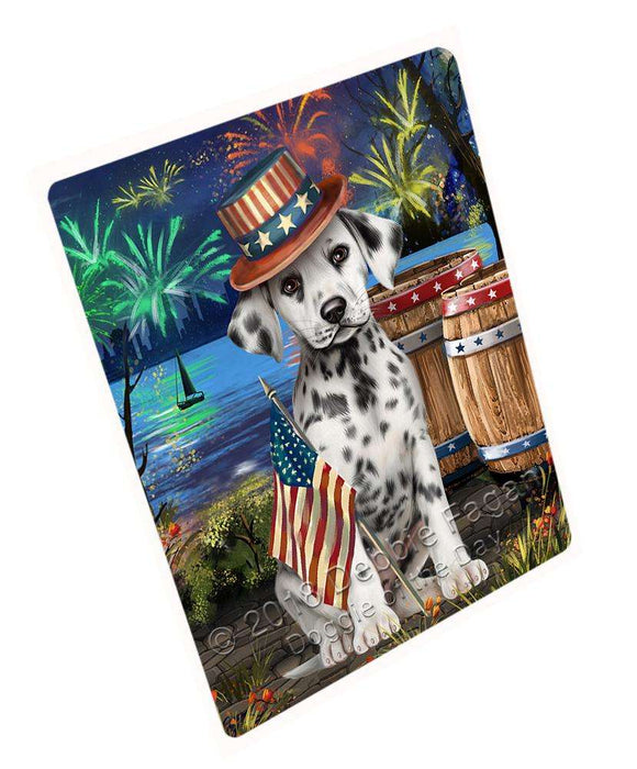 "4th Of July Independence Day Fireworks Dalmatian Dog At The Lake Magnet Mini (3.5"" x 2"") MAG56925"