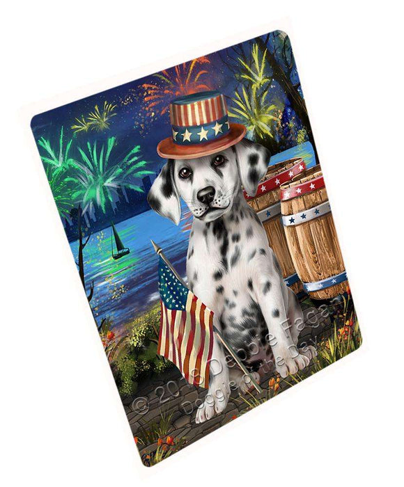 "4th Of July Independence Day Fireworks Dalmatian Dog At The Lake Magnet Mini (3.5"" x 2"") MAG57459"