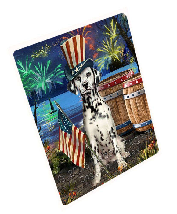 "4th Of July Independence Day Fireworks Dalmatian Dog At The Lake Magnet Mini (3.5"" x 2"") MAG57465"
