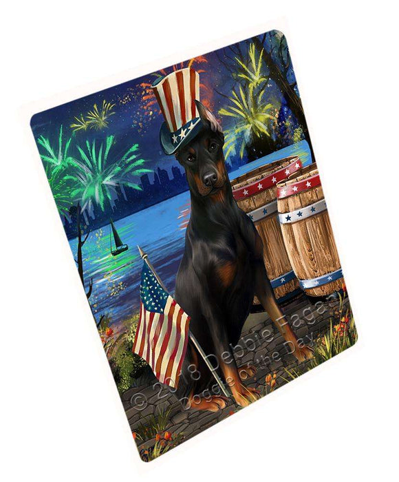 "4th Of July Independence Day Fireworks Doberman Pinscher Dog At The Lake Magnet Mini (3.5"" x 2"") MAG57468"