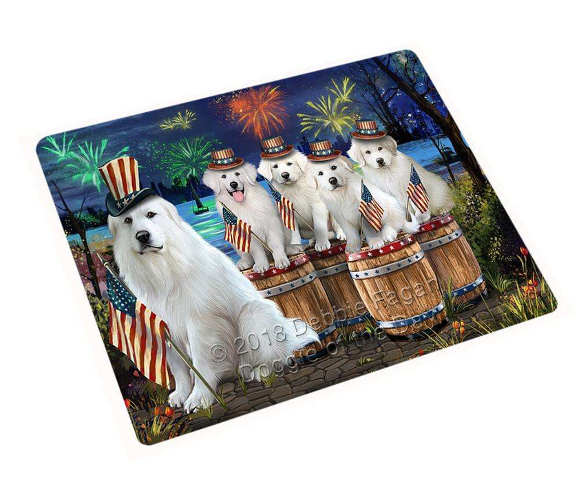 "4th Of July Independence Day Fireworks Great Pyrenees At The Lake Magnet Mini (3.5"" x 2"") MAG57132"