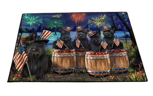 4th of July Independence Day Fireworks Scottish Terriers at the Lake Floormat FLMS50982