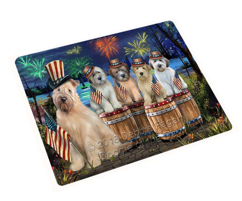 "4th Of July Independence Day Fireworks Wheaten Terriers At The Lake Magnet Mini (3.5"" x 2"") MAG57204"