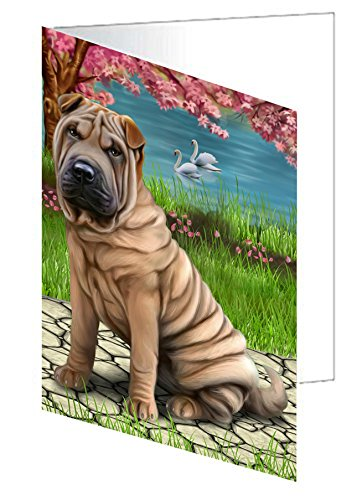 Shar-Pei Dog Greeting Card