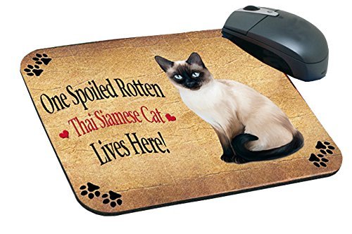 Spoiled Rotten Thai Siamese Cat Mousepad