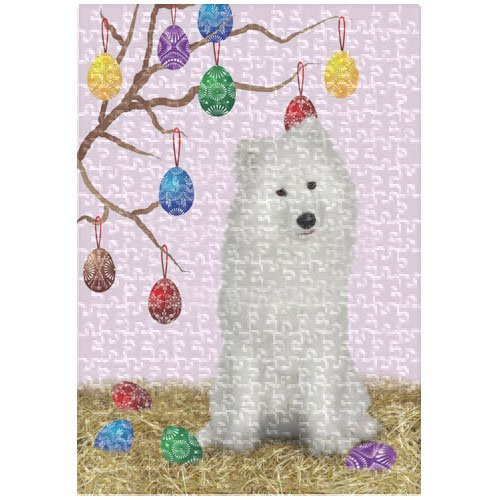 Samoyed 252 Pc. Puzzle with Photo Tin