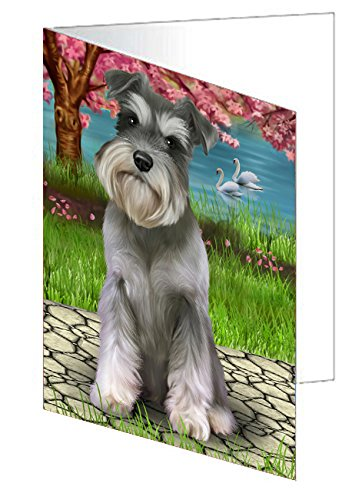 Schnauzer Dog Greeting Card D322