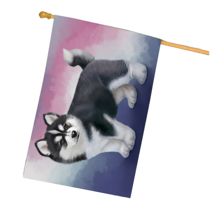 Siberian Husky Dog House Flag FLGA48123