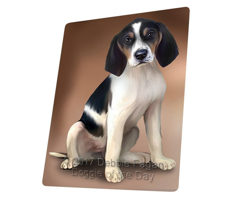 Treeing Walker Coonhound Dog Art Portrait Print Woven Throw Sherpa Plush Fleece Blanket D445