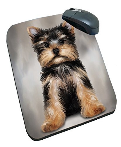 Yorkshire Terrier Dog Art Portrait Print Mousepad