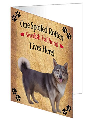 Spoiled Rotten Swedish Vallhund Dog Note Card