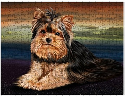 Yorkshire Terrier Dog Puzzle with Photo Tin D192