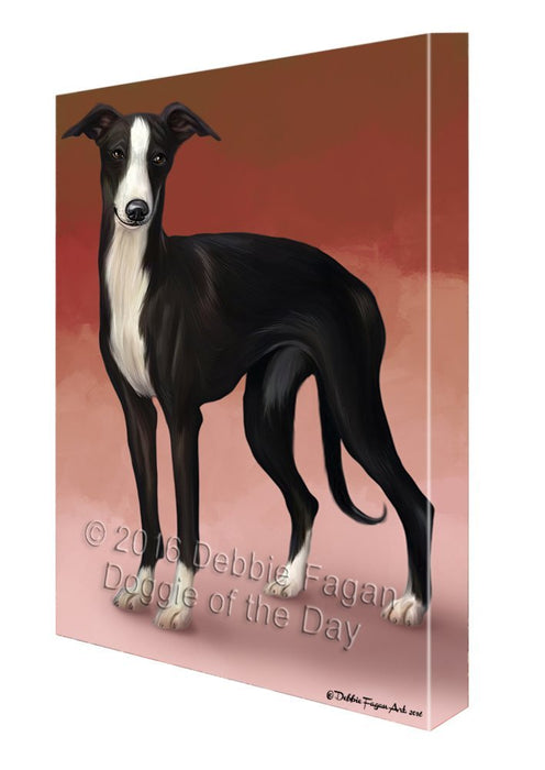 Whippet Dog Canvas Wall Art