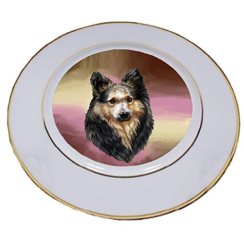Sheltie Dog Porcelain Plate PLT48112