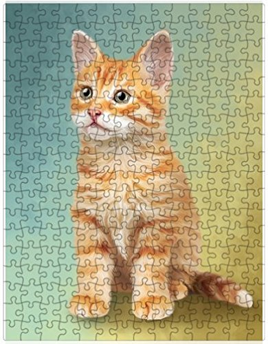 Tabby Cat Puzzle with Photo Tin